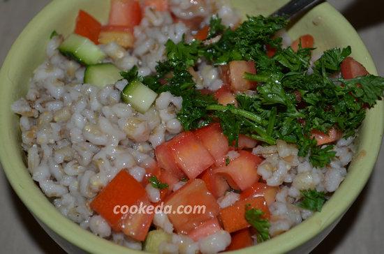 Салат из овощей и перловой крупы-05