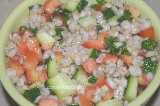 Салат из овощей и перловой крупы-06