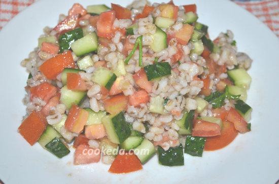 Салат из овощей и перловой крупы-07