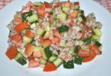 Салат из овощей и перловой крупы