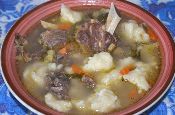 рецепт супа на говяжьем бульоне с клецками