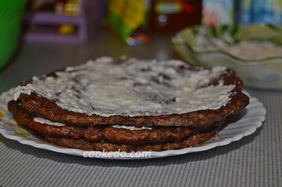 Торт из куриной печени и сердец-12