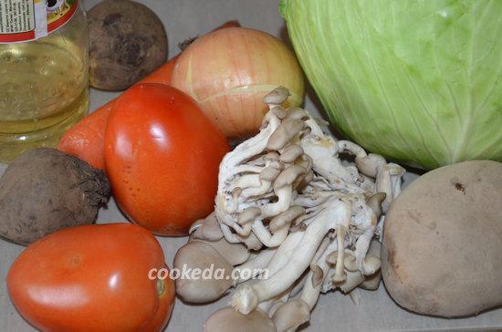 вегетарианский борщ с грибами-02
