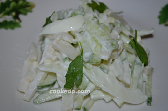 Рецепт тертого салата из дайкона-09
