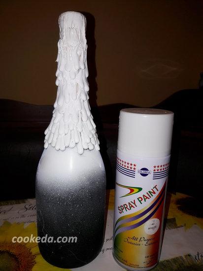Декупаж бутылки шампанского-03