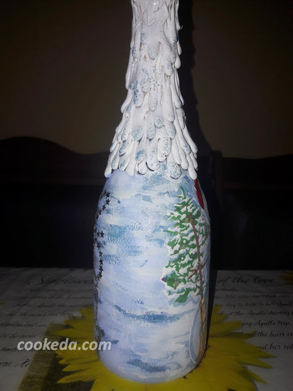 Декупаж бутылки шампанского-06