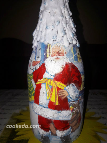 Декупаж бутылки шампанского-08