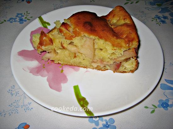 пирог с яблоками в духовке-01