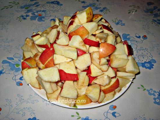пирог с яблоками в духовке-12
