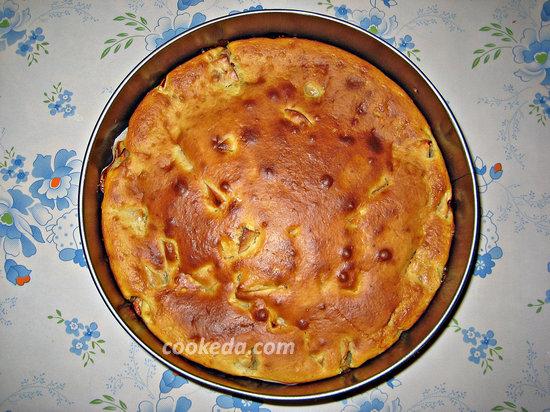 пирог с яблоками в духовке-16