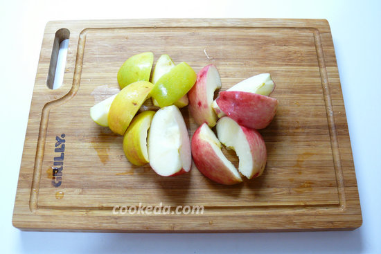 Утка с яблоками в духовке-04