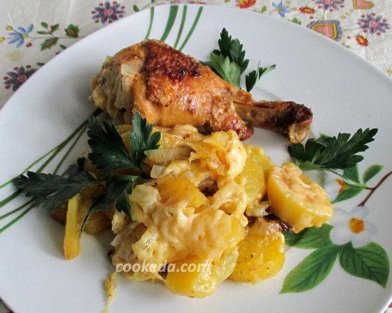 Курица запеченная с картошкой-14