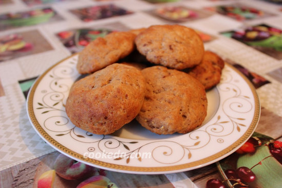 творожное печенье с какао-11