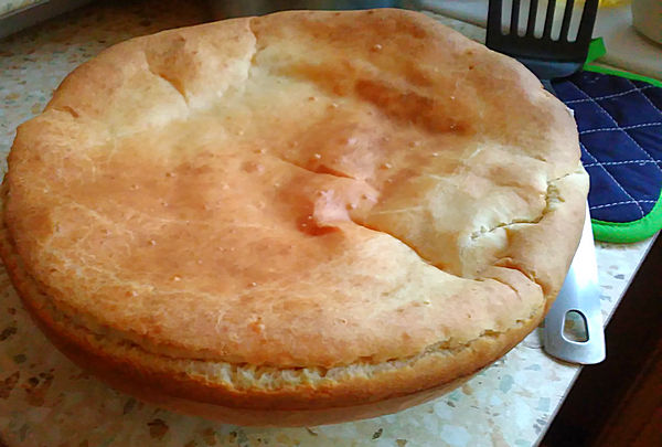Слоеный рыбный пирог рецепт фото