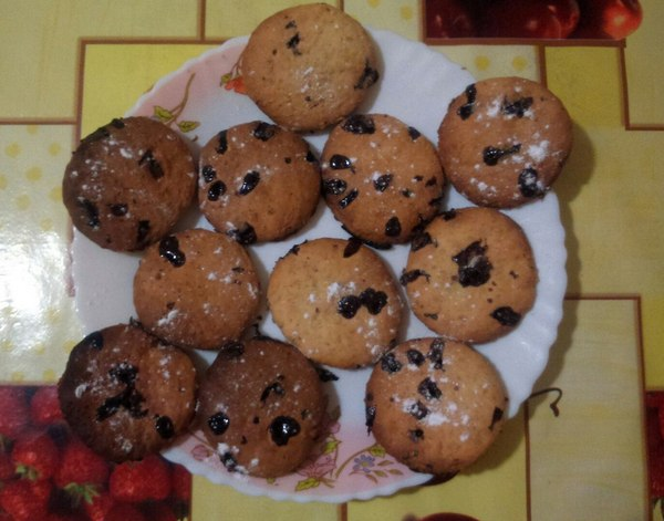 Печенье с шоколадной крошкой - рецепт