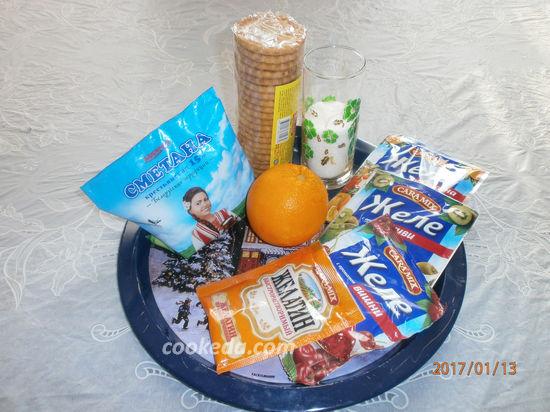 рецепт желейного торта с фруктами