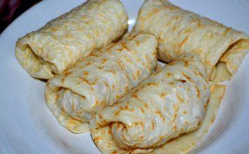 Тонкие блины с мясом - пошаговый рецепт