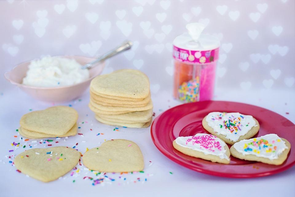 Валентинки - печенья