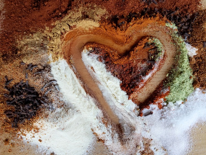 Валентинка - сердце из кофе