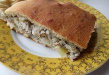 Пирог с консервированной сайрой и рисом - пошаговый рецепт