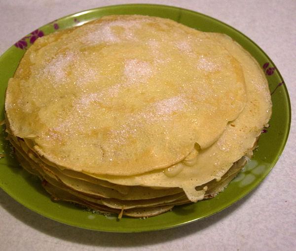 Домашние бездрожжевые блины - пошаговый рецепт