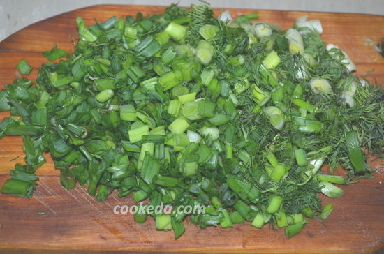 Постные дрожжевые лепешки с зеленью