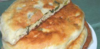 Постные дрожжевые лепешки с зеленью - пошаговый рецепт