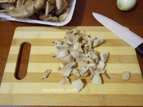 Куриная грудка фаршированная грибами вешенками