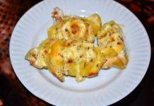 картошка - гармошка с курицей и сыром в духовке - пошаговый рецепт