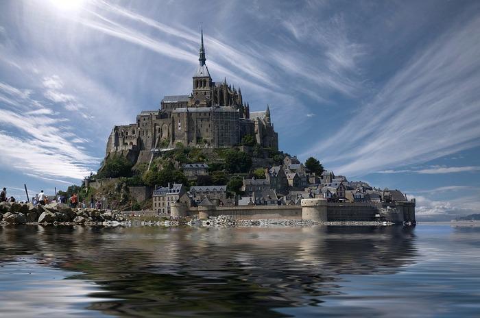 Мон-Сен-Мишель, Нормандия, Франция