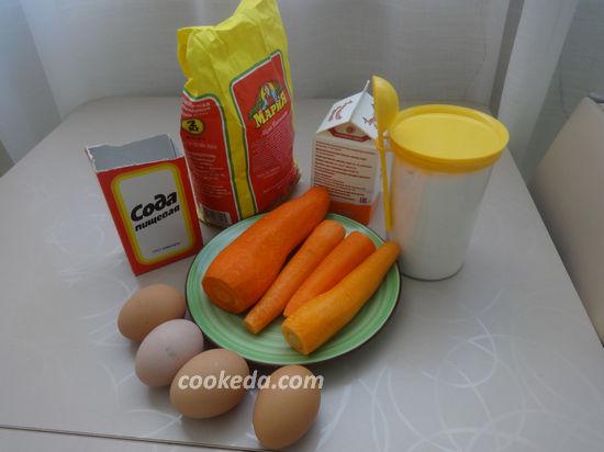 морковный пирог - ингредиенты