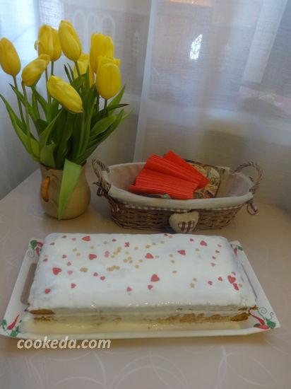 Морковный пирог со сметанным кремом