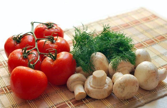 Блюда из грибов и овощей