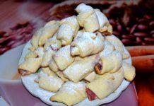рогалики с вишней - пошаговый рецепт