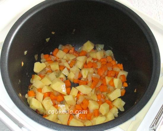 Суп из красной рыбы в мультиварке