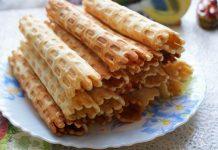 вафельные трубочки в вафельнице - пошаговый рецепт
