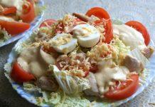 "салат ""Цезарь"" по-домашнему - пошаговый рецепт"