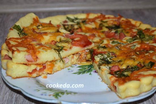 Рецепт пиццы в духовке в домашних условиях быстрый