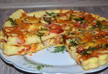 быстрая пицца на сметане - пошаговый рецепт