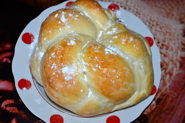 сдобное тесто для плетенки