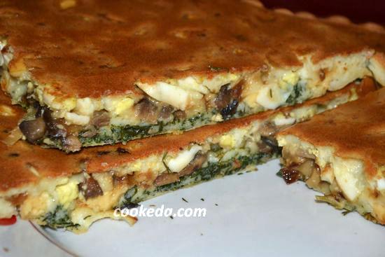 Заливной пирог с капустой на кефире и майонезе рецепт с фото в духовке