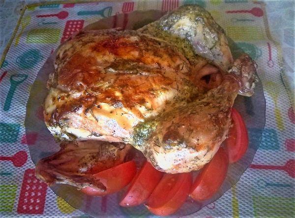 курица в духовке с хрустящей корочкой рецепт фото