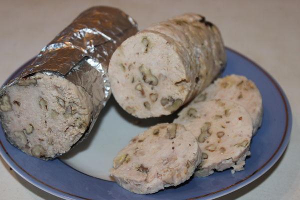 Колбаса из индейки - пошаговый рецепт