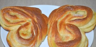 Плюшка сахарная Московская - пошаговый рецепт