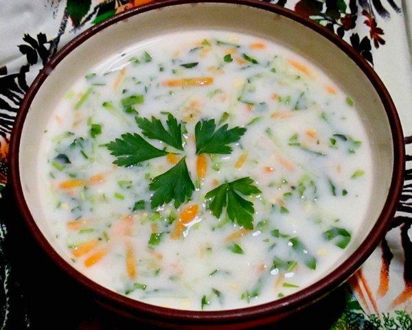 Холодный суп на кефире - пошаговый рецепт