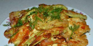 кабачки в кляре с чесноком - пошаговый рецепт