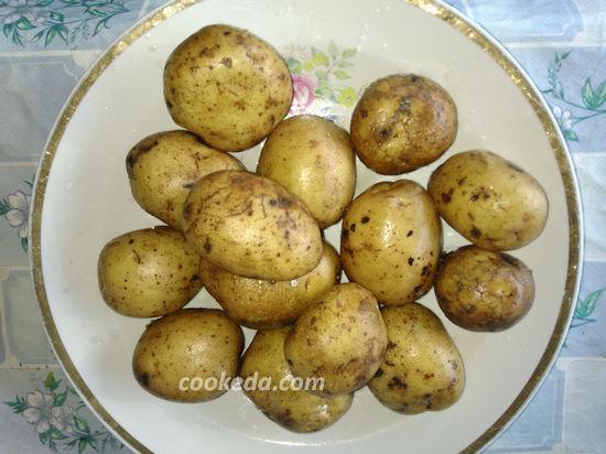 Картофель запеченный в фольге с сыром в духовке