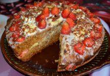 торт с клубникой в мультиварке - пошаговый рецепт