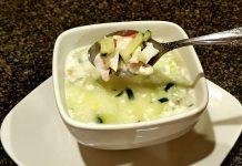 окрошка на кефире с кабачком - пошаговый рецепт