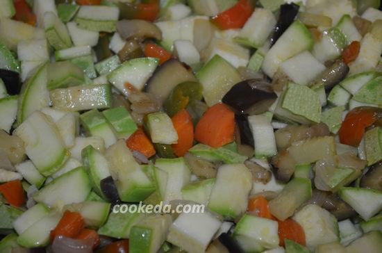 Рагу с картошкой и баклажанами в мультиварке